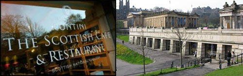 The Scottish Caféand Restaurant is situated within the Scottish National Gallery